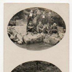 Postales: MOREDA. 1919. GRUPO DE AMIGOS. ASTURIAS. Lote 194528443