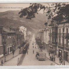 Postales: MIERES CALLE DE MANUEL LLANEZA . SIN CIRCULAR. . Lote 194555456