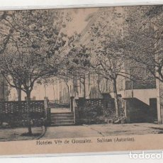 Postales: HOTELES VIUDA DE GONZALEZ. SALINAS. ASTURIAS. SIN CIRCULAR.. Lote 194555588