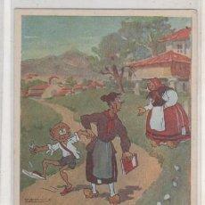 Postales: POSTAL DEL PINÓN ILUSTRADA POR ALFONSO. MODELO 110. BABLE. SIN CIRCULAR. . Lote 194561935