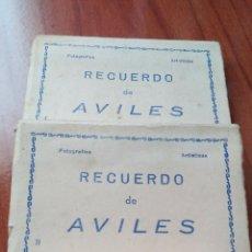 Postales: RECUERDO AVILÉS L ,AVILÉS LL Y SANTANDER. Lote 194576188