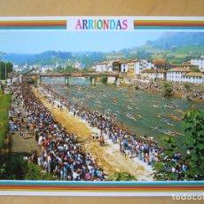 Postales: ARRIONDAS (ASTURIAS) - DESCENSO INTERNACIONAL DEL SELLA. SALIDA. Lote 194584212