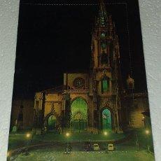 Postales: POSTAL DE OVIEDO LA CATEDRAL CON MINI LIBRILLO DENTRO. Lote 194888433