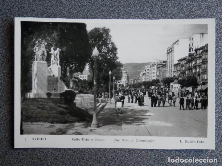 OVIEDO LOTE DE 9 POSTALES FOTOGRÁFICAS ANTIGUAS (Postales - España - Asturias Antigua (hasta 1.939))
