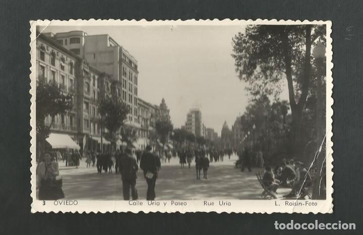 POSTAL CIRCULADA - OVIEDO 3 - CALLE URIA Y PASEO - EDITA L. ROISIN (Postales - España - Asturias Moderna (desde 1.940))