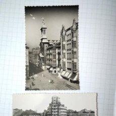 Postales: GIJÓN, ASTURIAS, 2 POSTALES FOTOGRÁFICAS. SIN CIRCULAR. EDICIONES ARRIBAS, GARCÍA GARRABELLA. Lote 195052600