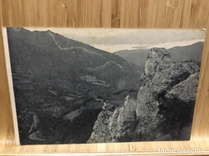 POSTAL DEL PUERTO DE PAJARES.PEÑA DE LAS CUEVAS.GRAFOS. (Postales - España - Asturias Antigua (hasta 1.939))