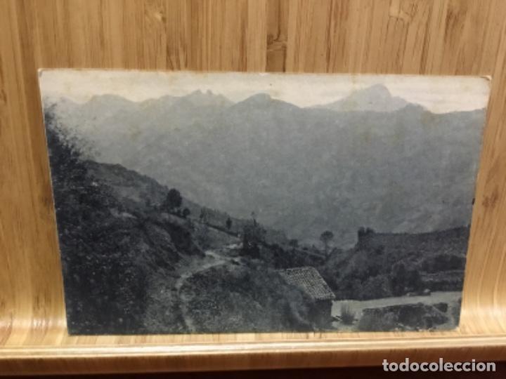 POSTAL DEL PUERTO DE PAJARES.BAJADA AL VALLE. (Postales - España - Asturias Antigua (hasta 1.939))