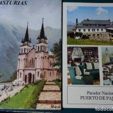 Postales: TRÍPTICO PUBLICITARIO DE ASTURIAS + PARADOR PUERTO DE PAJARES. AÑO 1974. PUBLICIDAD MEDICINA. Lote 195343397