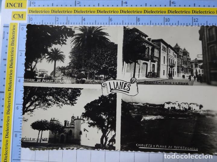 POSTAL DE ASTURIAS. AÑOS 30 50. LLANES CAPILLA GUIA, PUERTOCHICO, CASINO. FOTOMELY. 129 (Postales - España - Asturias Antigua (hasta 1.939))