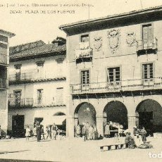 Postales: POSTAL ANTIGUA DEVA -PLAZA DE LOS FUEROS -EDITOR JOSE IRECU ULTRAMARINOS YESTANCO DEVA. Lote 196003868