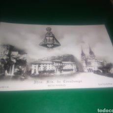 Postales: MUY ANTIGUA POSTAL. NUESTRA SEÑORA DE COVADONGA. SEMINARIO, CUEVA Y CATEDRAL.. Lote 196004623