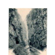 Postales: ASTURIAS.- DESFILADERO DE CARANGA (PEÑAS JUNTAS). SERIE A. Nº8. FOT VILLEGAS. Lote 196219867