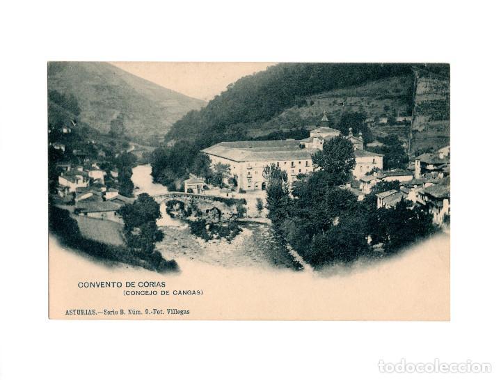 ASTURIAS.- CONVENTO DE CORIAS.(CONCEJO DE CANGAS). SERIE B. Nº9. FOT VILLEGAS. (Postales - España - Asturias Antigua (hasta 1.939))