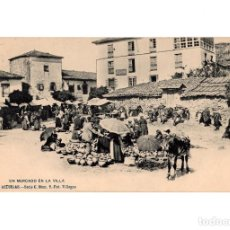 Postales: ASTURIAS.- UN MERCADO EN LA VILLA. SERIE C. Nº9. FOT VILLEGAS.. Lote 196296383