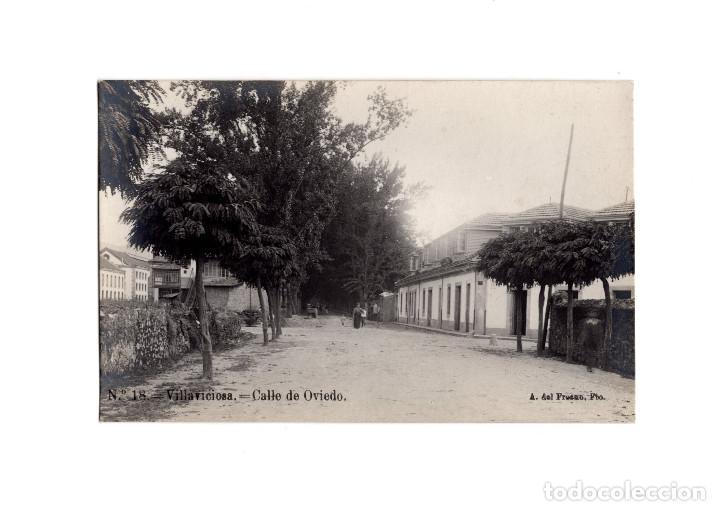 VILLAVICIOSA.(ASTURIAS).- CALLE DE OVIEDO. POSTAL FOTOGRÁFICA. (Postales - España - Asturias Antigua (hasta 1.939))