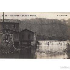 Postales: VILLAVICIOSA.(ASTURIAS).- MOLINO DE AMANDI. POSTAL FOTOGRÁFICA.. Lote 196389461