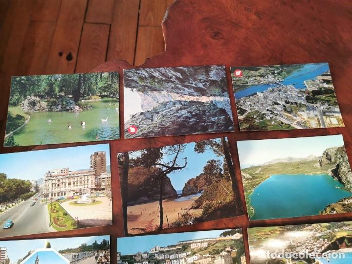 Postales: 15 POSTALES DEL NORTE DE ESPAÑA, ASTURIAS, OVIEDO, LUARCA, VICTORIA, LEON, RIBADESELLA, NAVIA - Foto 2 - 196510183
