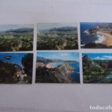 Postales: MAGNIFICO LOTE DE 6 POSTALES DE ASTURIAS MIRADOR EL FITO RIBADESELLA AÑOS 80. Lote 198687276