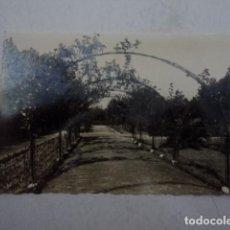 Postales: PRECIOSA POSTAL ANTIGUA GIJON ASTURIAS PARQUE ROSALEDA ISABEL LA CATOLICA AÑOS 60. Lote 199055546