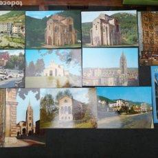 Postales: OVIEDO, POLA DE LENA, ASTURIAS, LOTE DE 12 POSTALE. Lote 199516027