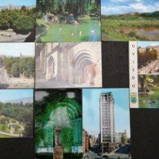 Postales: OVIEDO, LOTE DE 9 POSTALES. Lote 199654512
