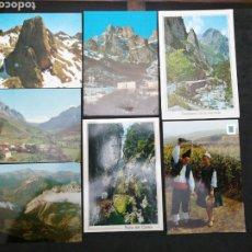 Postales: PICOS DE EUROPA, LOTE DE 7 POSTALES. Lote 199660836
