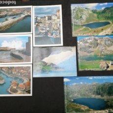 Postales: LLANES, SOMIEDO, ASTURIAS. LOTE DE 8 POSTALES. Lote 199661463