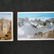 Postales: PICOS DE EUROPA, ALBARRACIN. 2 LIBRITOS DE POSTALES. Lote 199663875
