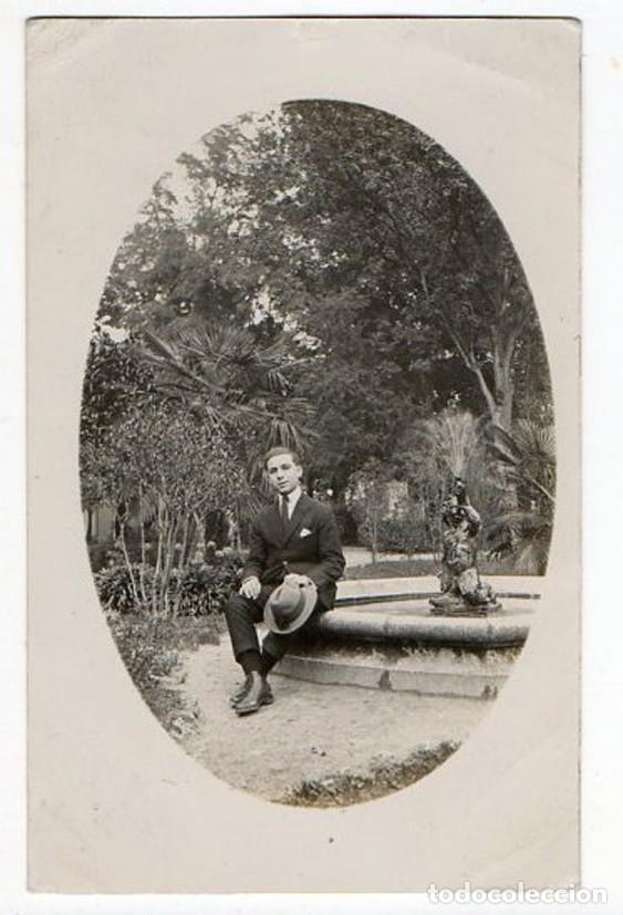 OVIEDO. DELANTE DE LA FUENTE DEL ANGELÍN. CAMPO SAN FRANCISCO. ASTURIAS. 1921 (Postales - España - Asturias Antigua (hasta 1.939))