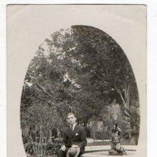Postales: OVIEDO. DELANTE DE LA FUENTE DEL ANGELÍN. CAMPO SAN FRANCISCO. ASTURIAS. 1921. Lote 201139821