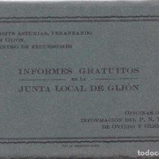 Postales: GIJON (ASTURIAS) - TACO DE 20 POSTALES - INFORMES GRATUITOS JUNTA LOCAL DE GIJON. Lote 203011838