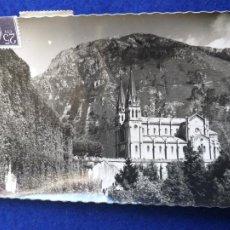 Postales: POSTAL DE COVADONGA. BASILICA. FACHADA LATERAL. Nº 1. GARCIA GARRABELLA Y CIA. CIRCULADA. Lote 203549958