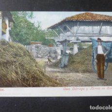 Postales: GIJON ASTURIAS CASA LABRIEGA Y HORREO EN SOMIÓ ED. PURGER Nº 3821 SIN DIVIDIR. Lote 203762473