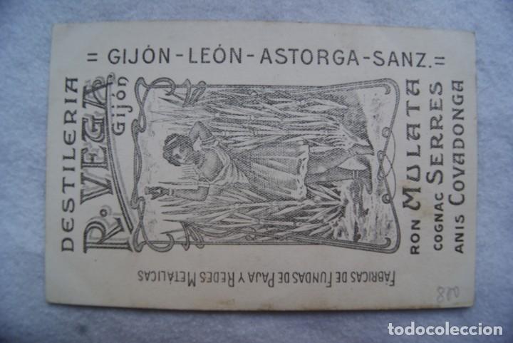 POSTAL DESTILERIAS R. VEGA GIJON ASTURIAS LEON ASTORGA ANIS COVADONGA PUBLICIDAD (Postales - España - Asturias Antigua (hasta 1.939))