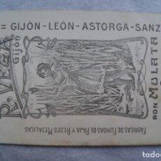 Postales: POSTAL DESTILERIAS R. VEGA GIJON ASTURIAS LEON ASTORGA ANIS COVADONGA PUBLICIDAD. Lote 204072558