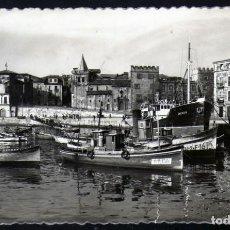 Postales: BONITA POSTAL DEL MUELLE VIEJO DE GIJON 1960 CIRCULADA. Lote 204213150