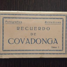 Postales: COVADONGA - LIBRITO CON 8 POSTALES EN CARTULINA - BAZAR EL BARATO. Lote 204527171