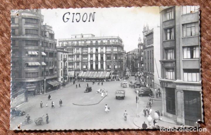 GIJON - PLAZA JOSE ANTONIO PRIMO DE RIVERA (Postales - España - Asturias Moderna (desde 1.940))