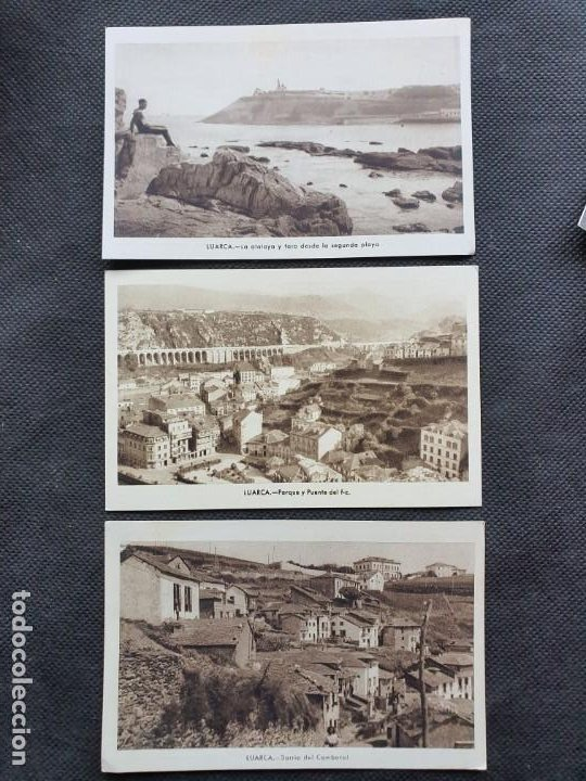 LUARCA 3 POSTALES (Postales - España - Asturias Moderna (desde 1.940))