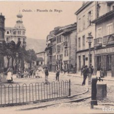 Postales: OVIEDO (ASTURIAS) - PLAZUELA DE RIEGO. Lote 207563052
