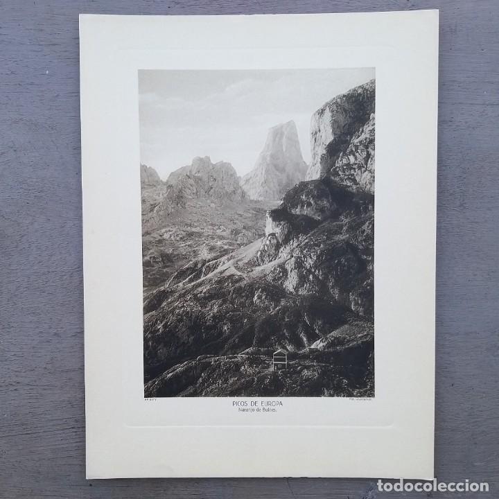GRAN FOTOGRAFIA/FOTOTIPIA IMPRESA PICOS DE EUROPA FOTO OTTO WUNDERLICH (Postales - España - Asturias Antigua (hasta 1.939))