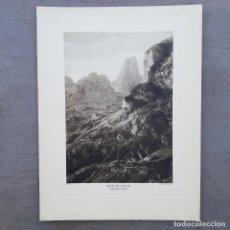 Postales: GRAN FOTOGRAFIA/FOTOTIPIA IMPRESA PICOS DE EUROPA FOTO OTTO WUNDERLICH. Lote 208184485