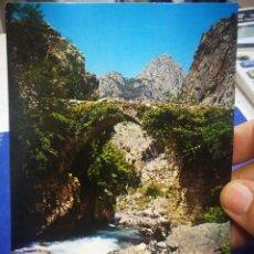 Postales: POSTAL DESFILADERO DEL CARES PUENTE EL HAYA RUTA DEL NARANJO DEL BULNES N 280 ALCE 1969 ESCRITA. Lote 210415118