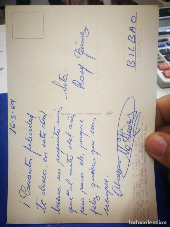Postales: Postal Desfiladero del Cares Puente El Haya Ruta del Naranjo del Bulnes N 280 ALCE 1969 escrita - Foto 2 - 210415118