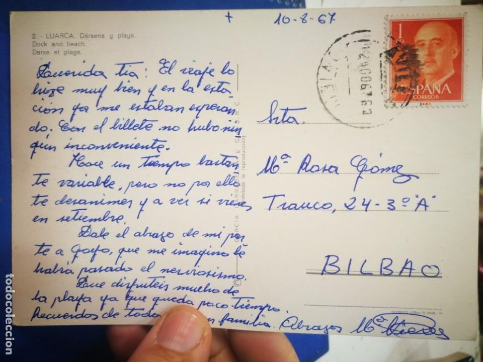 Postales: Postal Luarca Dársena y Playa N 2 GARCIA GARRABELLA 1967 escrita y sellada - Foto 2 - 210444465
