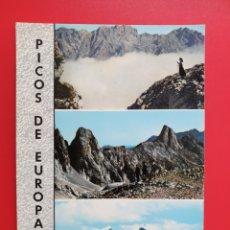 Postales: ASTURIAS – PICOS DE EUROPA – MAR DE NIEBLA SOBRE EL CARES. SUBIDA A PEÑA VIEJA – ED ALARE 108. Lote 210450176