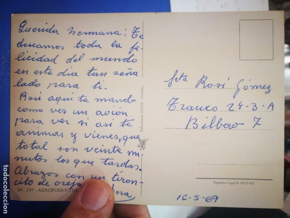 Postales: Postal Aeropuerto de Asturias N 297 ALCE 1969 escrita - Foto 2 - 210454791