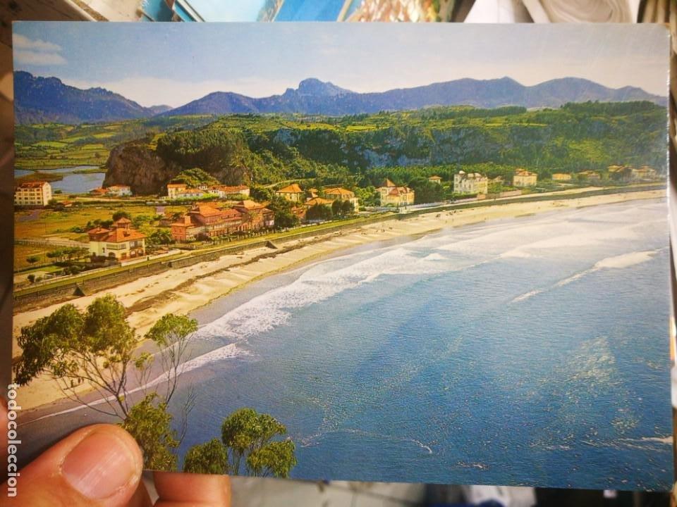POSTAL RIBADESELLA PLAYA SANTA MARINA N 11 GARCÍA GARRABELLA 1966 ESCRITA (Postales - España - Asturias Moderna (desde 1.940))