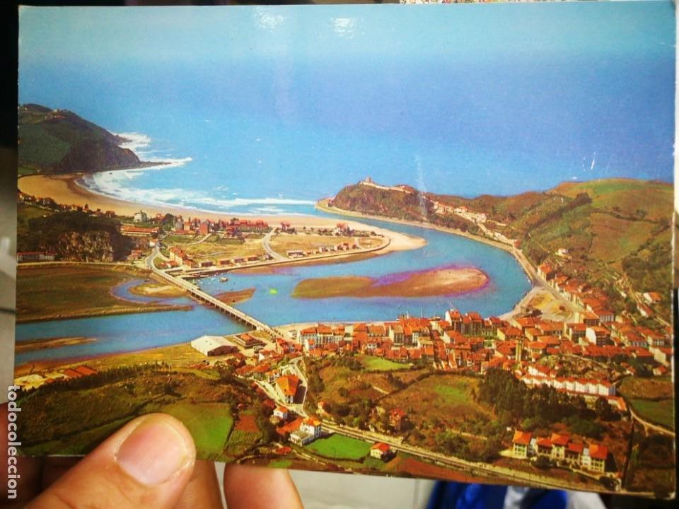 POSTAL RIBADESELLA VISTA AÉREA N 386 ALARDE ESCRITA (Postales - España - Asturias Moderna (desde 1.940))